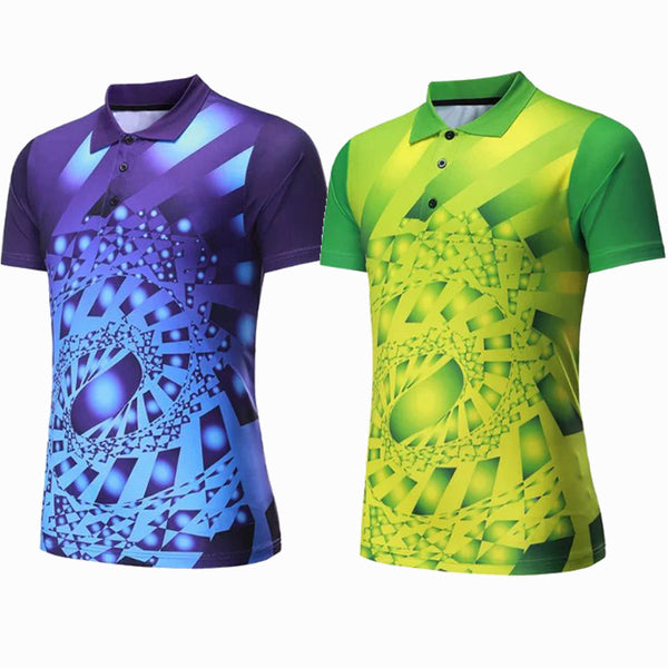 Golf Shirts Sports Series Wicking Breathable Clothing Badminton Men's T-shirt Table Tennis Clothes Shirt