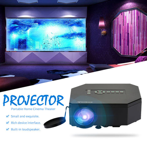 LCD Mini LED Projector Portable School Outdoor Multimedia Projector UC30 7000 Lumens Theater Home Cinema