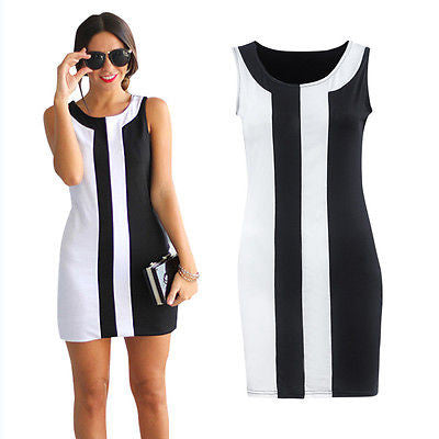 Women Sexy Summer Dress Casual Sleeveless Cocktail Evening Party Mini Dresses