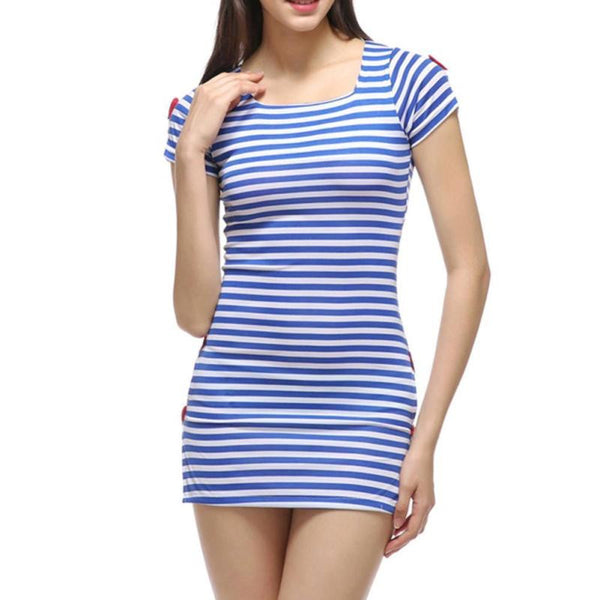 Europe USA New Summer Tide Splits Women Black White Stripe Casual Dress Sexy Party Fashion Long Party Club Women #39;s Clothing Harajuku