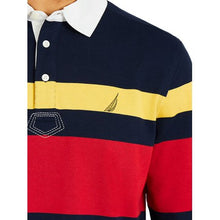 Load image into Gallery viewer, Classic Fit Rugby Stripe Polo Shirt