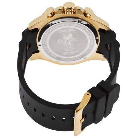 Invicta Men's I-Force Multi-Function Black Polyurethane Gold-Tone Dial