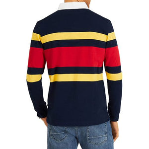 Classic Fit Rugby Stripe Polo Shirt