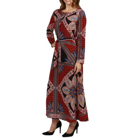 24/7 Comfort Apparel Callie Maxi Dress