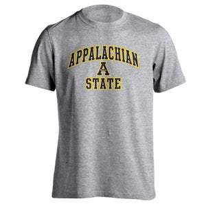 Appalachian State University ASU Mountianeers Arch Mascot Athletic Heather Short Sleeve T-Shirt