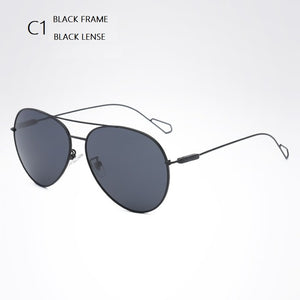 width-145 brand Design Pilot polarized men sunglasses for male alloy metal supper thin Overall temple aviator sunglasses eyewear