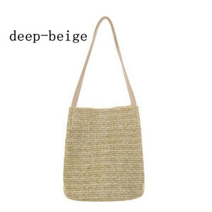 2018 Summer Women Durable Weave Straw Beach Bags Feminine Linen Woven Bucket Bag Grass Casual Tote Handbags Knitting Rattan Bags - MASTYLES ONLINE EXPRESS