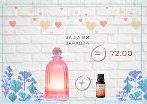 "Diffuser ""Perfume Bottle"" and ""Fire Element"" essential oil blend"