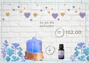 "Diffuser ""Crystal Pure"" and ""Good Night"" essential oil blend"