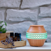 Load image into Gallery viewer, Small Light Wood Decorated Vase Diffuser