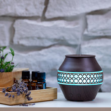 Load image into Gallery viewer, Small Dark Wood Decorated Vase Diffuser