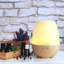 "Load image into Gallery viewer, Aroma Diffuser ""Diya"" Light Wood"