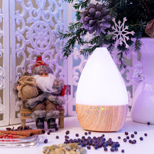 Light Wood Vase Diffuser with Lights