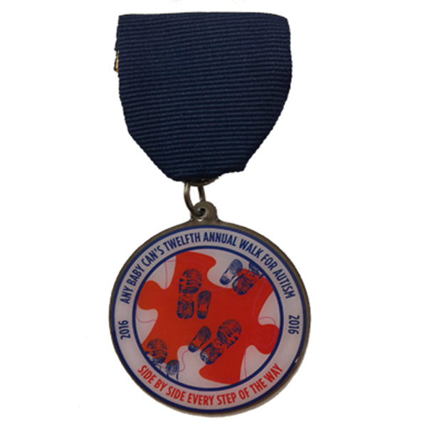 Walk for Autism Medal 2016