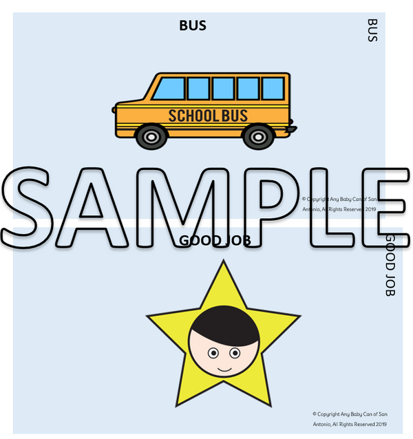 School Bus Safety Visual Key Chain