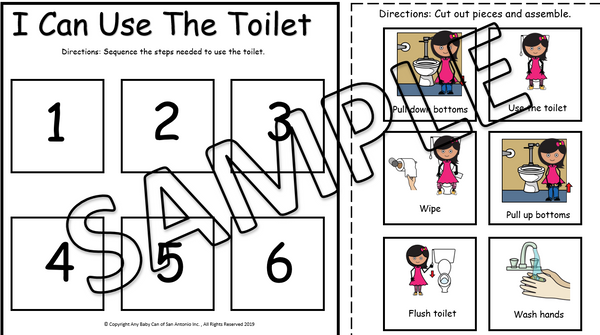 6 Step Toileting Sequence Activity