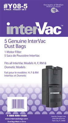 Y08-5 Genuine InterVac Dust Bags