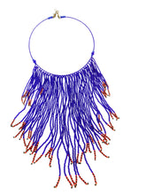 African Beaded Necklace - Indigo Blue