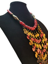 Long Vinyl Heishi Bead Necklace - Multicolored