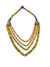 Vinyl Heishi Bead Necklace - Yellow