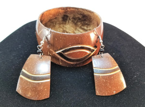 Coconut Earrings and Bracelet Set