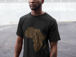 GOLDEN AFRICA Word Cloud Unisex T-Shirt