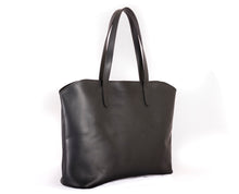 Handmade Leather Tote Bag - Black