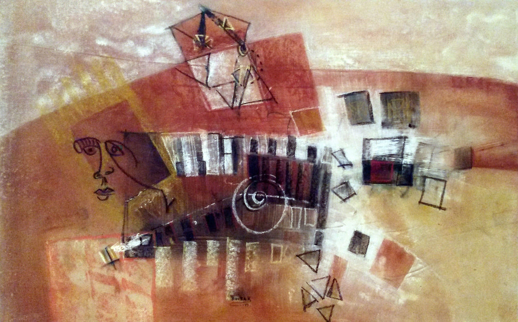 Piano Player 27x41, African art from Burkina Faso by Boubakary Konseimbo