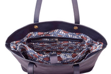 Handmade Leather Tote Bag - Navy Blue