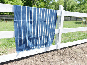 Authentic Vintage Indigo Throw Blanket