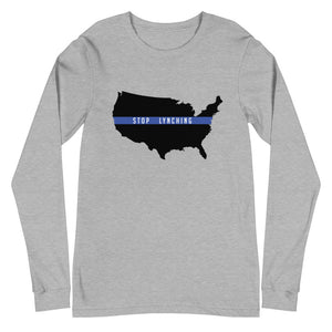 "Stop Lynching ""Solid Black"" Long Sleeve Unisex T-Shirt"