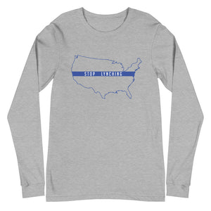 "Stop Lynching ""Blue Outline"" Long Sleeve Unisex T-Shirt"