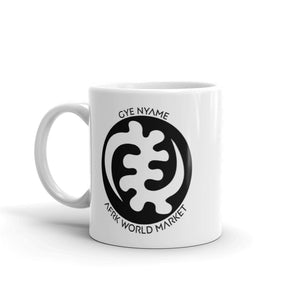 Fear Nothing - Gye Nyame Mug - White Glossy