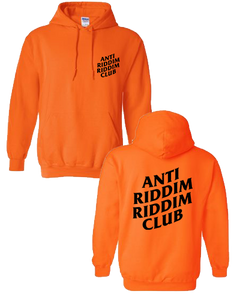 ANTI RIDDIM CLUB HOODIE (ORANGE/BLACK)