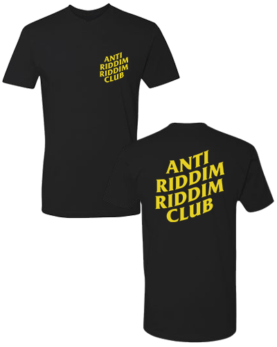 ANTI RIDDIM CLUB TEE (BLACK/YELLOW)