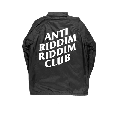 ANTI RIDDIM CLUB WINDBREAKER (BLACK/WHITE)