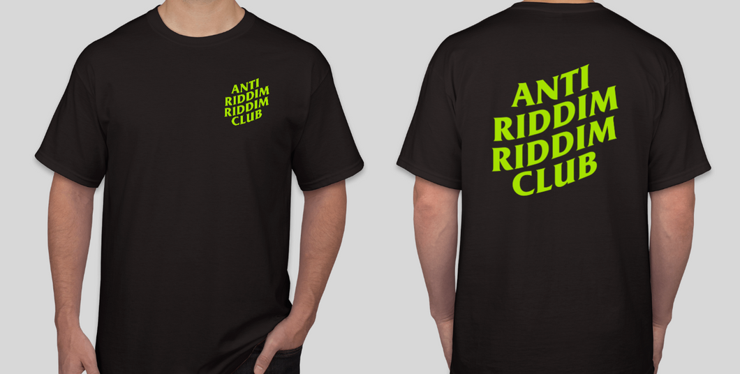 ANTI RIDDIM CLUB TEE (BLACK/LIME GREEN)
