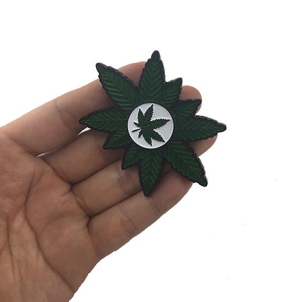 MATEMINCO Weed Marijuana Leaf Finger Toy Zinc Alloy EDC Hand Spinner Rotation Over 4mins - Hyper420