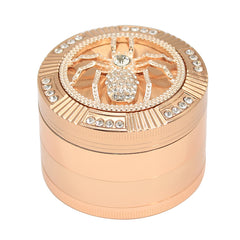 Rose Gold Bejeweled Spider Grinder