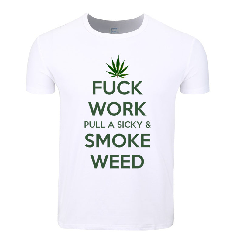 Asian Size Men And Women Print Smoke Weed Everyday 420 Fashion T-shirt O-Neck Short Sleeves Summer Casual Tshirt HCP4045 - Hyper420