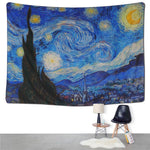 Cilected Home Decor Oil Painting Wall Tapestry Hanging Carpet Psychedelic Tapestries Landscape Printed Wall Cover Beach Blanket - Hyper420