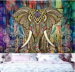 Elephant Marubhumi Tree Of Life Psychedelic Celestial Tapestry Good Luck Tie Dye Elephant Tapestry Hippie Gypsy Wall Hanging - Hyper420