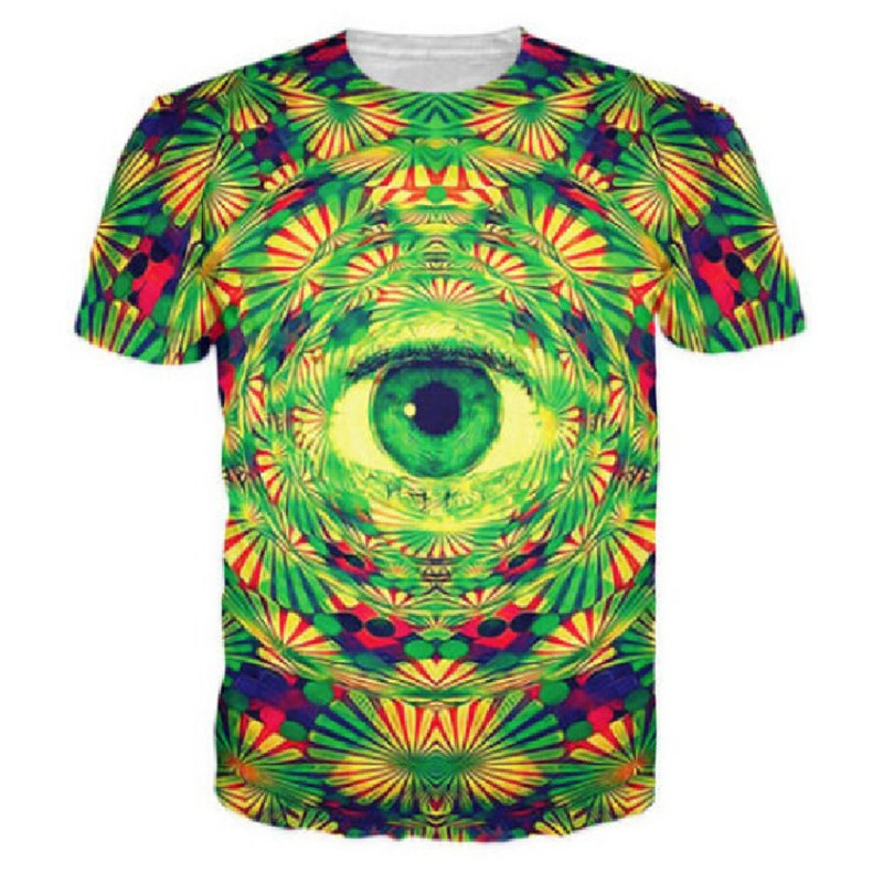 5fbe868c4a Fashion Men Weed Psychedelic Eye Trippy T-Shirt 3d Men All Seeing Eye T  shirts