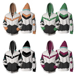 Japan Anime Sweatshirts Voltron Rance Cosplay Halloween carnival men and women Costume Autumn 3D Printing zipper Hooded sweater - Hyper420