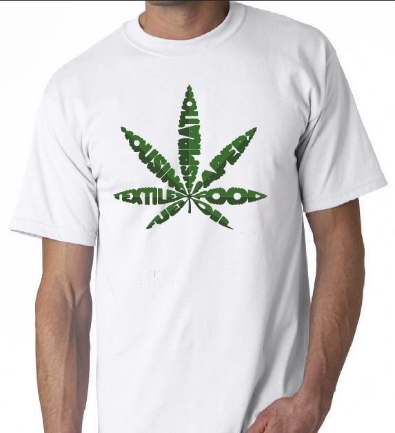 Pot Leaf Words Joints Weed Grass Bong Graphic Shirt T-Shirt T Shirts Short Sleeve Leisure Fashion Summer Summer O-Neck Tops - Hyper420