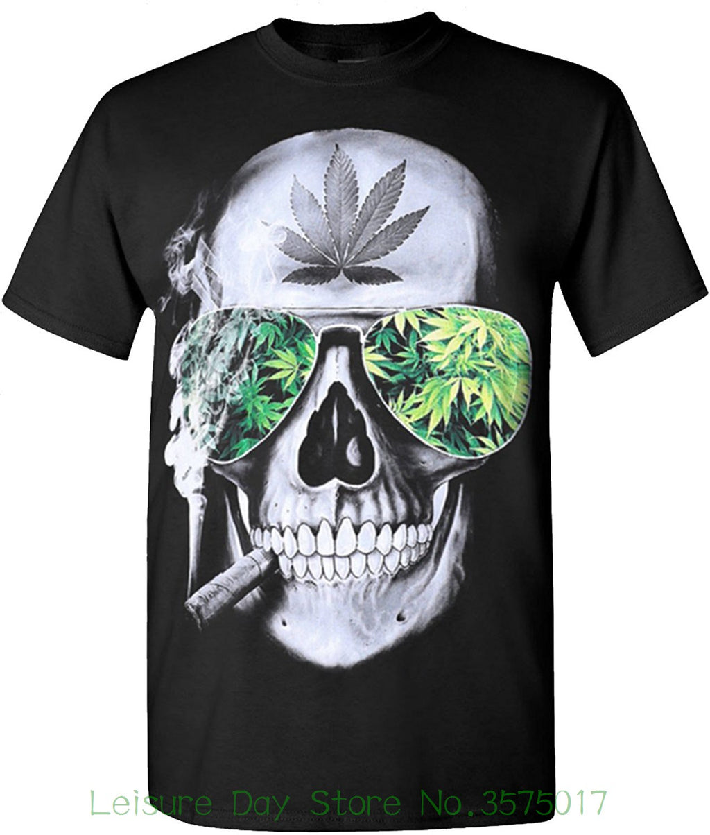 Short Sleeves Cotton Fashion T Shirt Free Shipping Skull Weed Blaze 420 Hip Hop Legend Rappers T Shirts