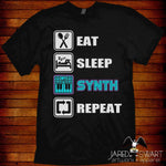 Eat-Sleep-Synth-Repeat T-shirt - Hyper420