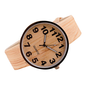 Vintage Style Wood Relojes Quartz Men Women Watches Casual Wooden Color Leather Strap Watch Wood Wristwatch Relogio Masculino #D