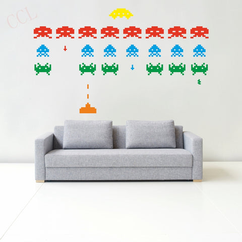 Sticker mural SPACE INVADERS