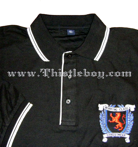 Working Class Streetwear Lion Rampant Polo with contrast piping